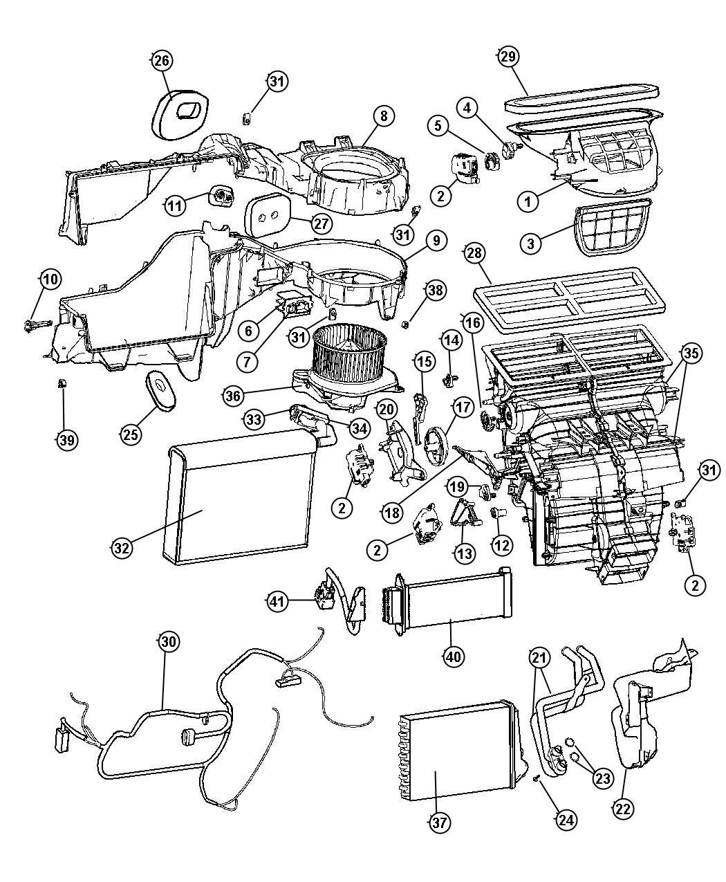 Jeep Grand Cherokee Resistor Blower Motor Conditioning