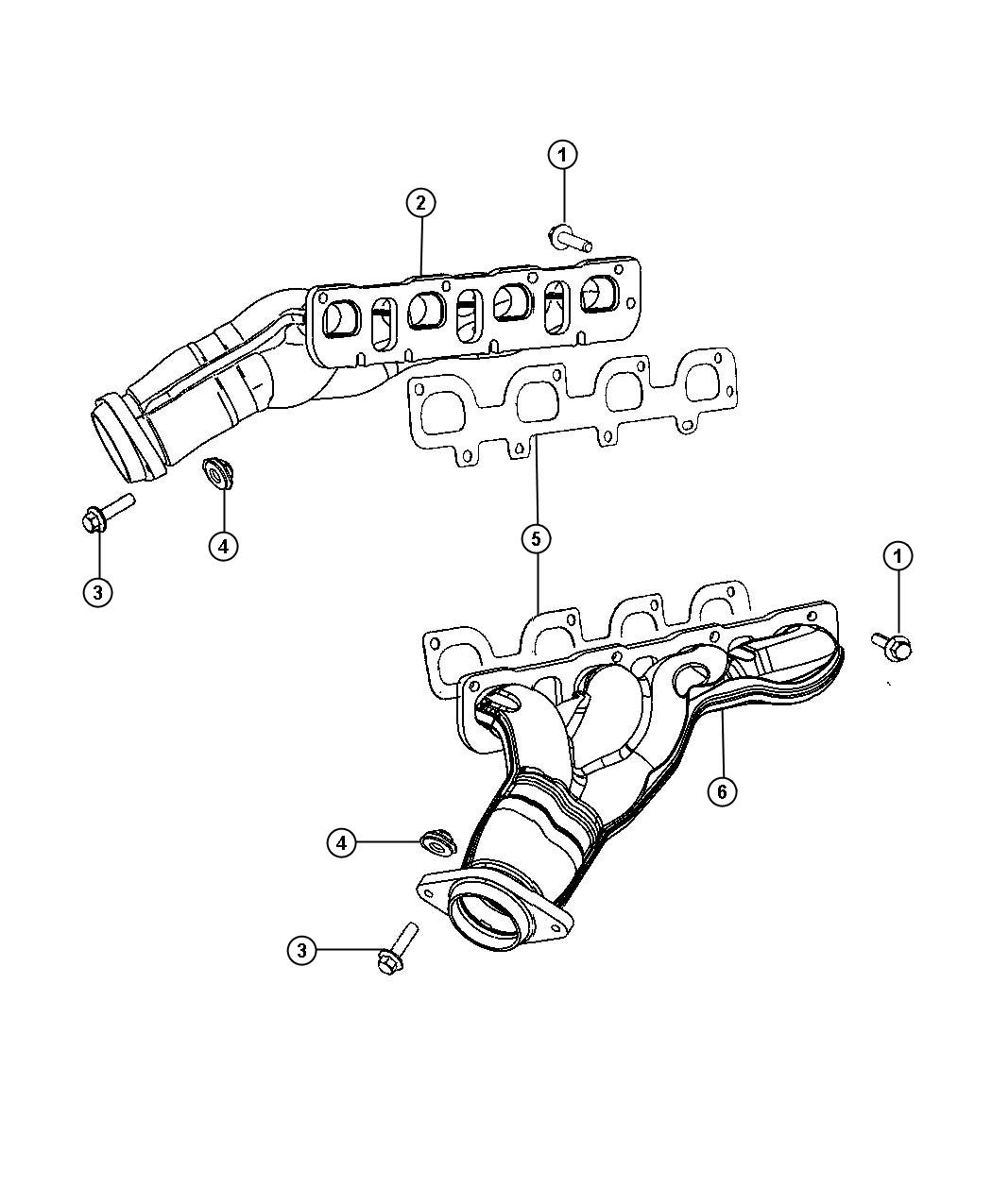 Jeep Grand Cherokee Manifold Exhaust Left Engine