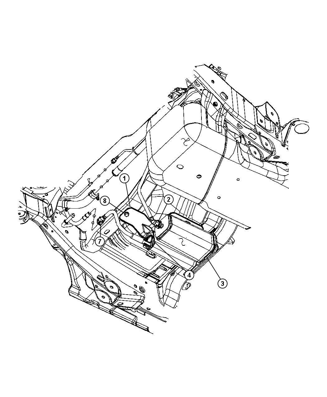 Jeep Wrangler Bracket Vapor Canister Export Tank