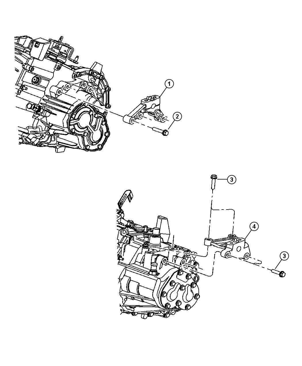 Jeep Liberty Bracket Engine Mount Left Side
