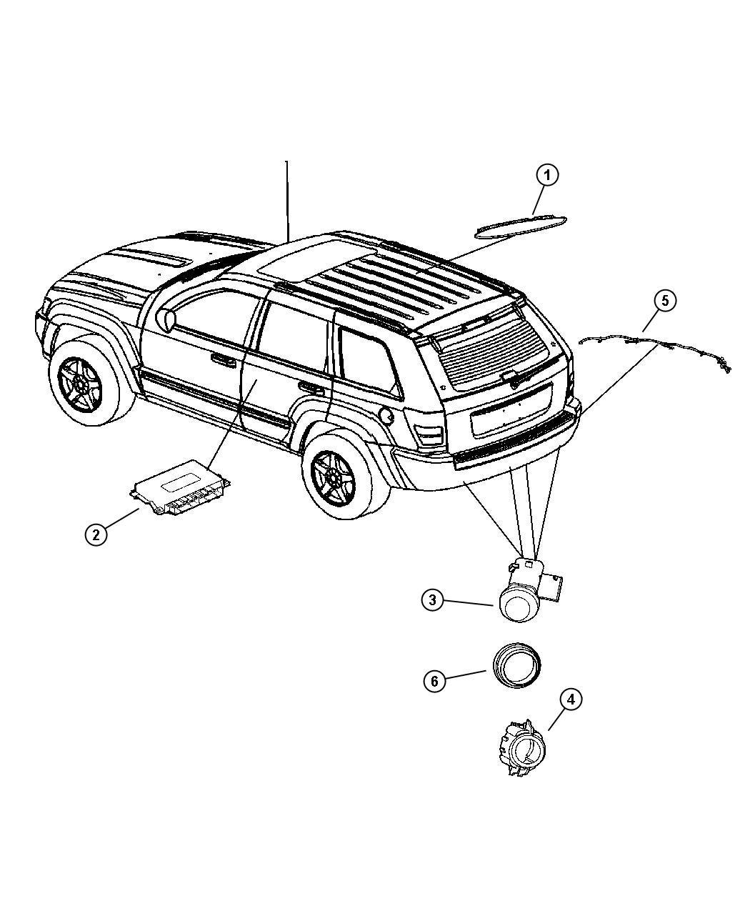Jeep Grand Cherokee Harness Wiring Rear Fascia