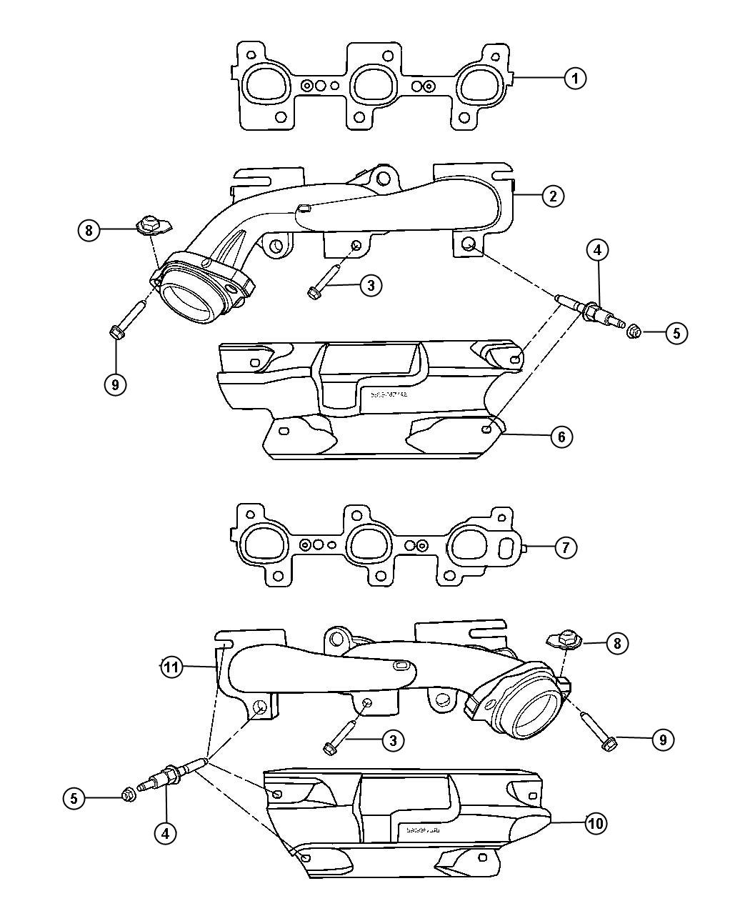 Jeep Grand Cherokee Manifold Exhaust Right Side