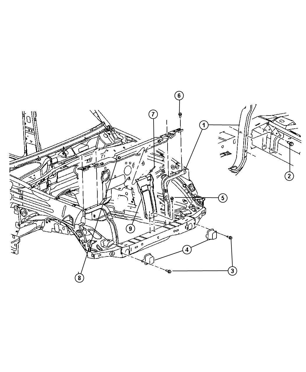 Jeep Liberty Crossmember Radiator Upper Related Engine