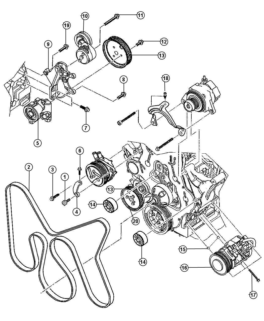 Dodge Grand Caravan Tensioner Beltsel Engine