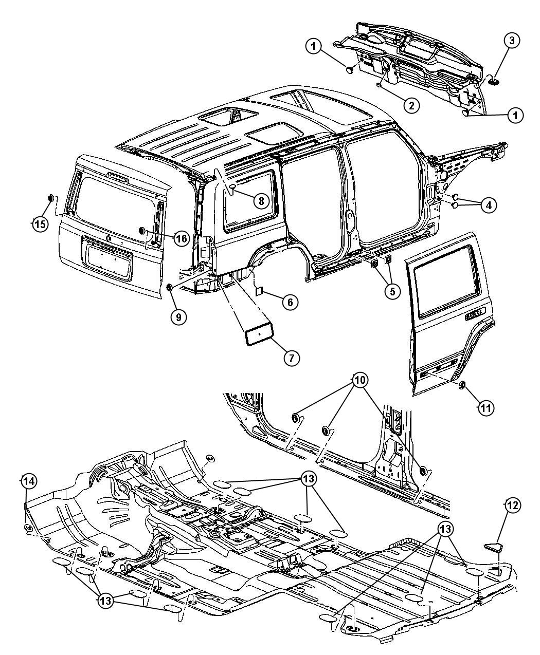 Jeep Commander Plug Body Plugs