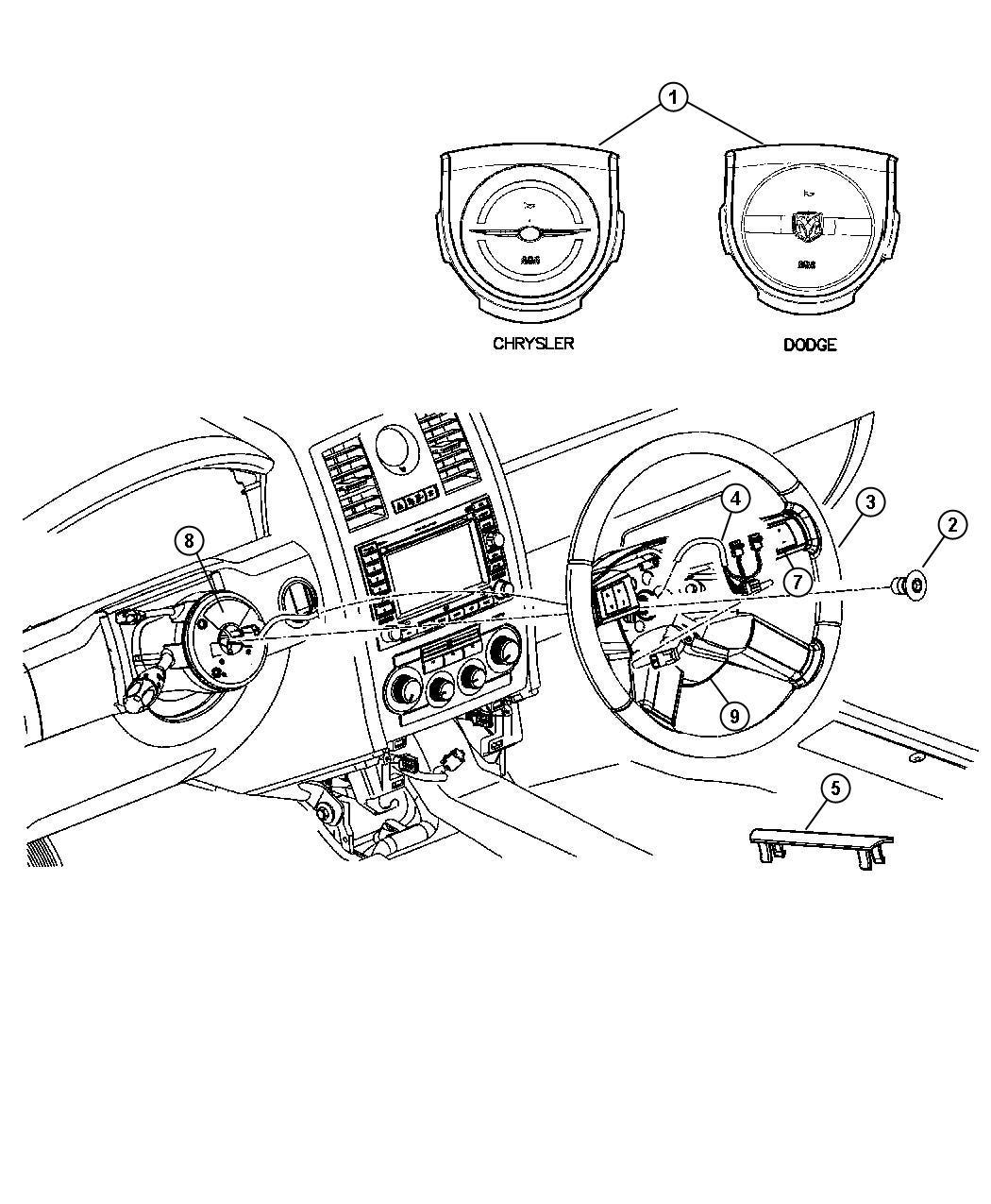 Dodge Charger Cover Air Bag Module D1 D1 Dodge D8