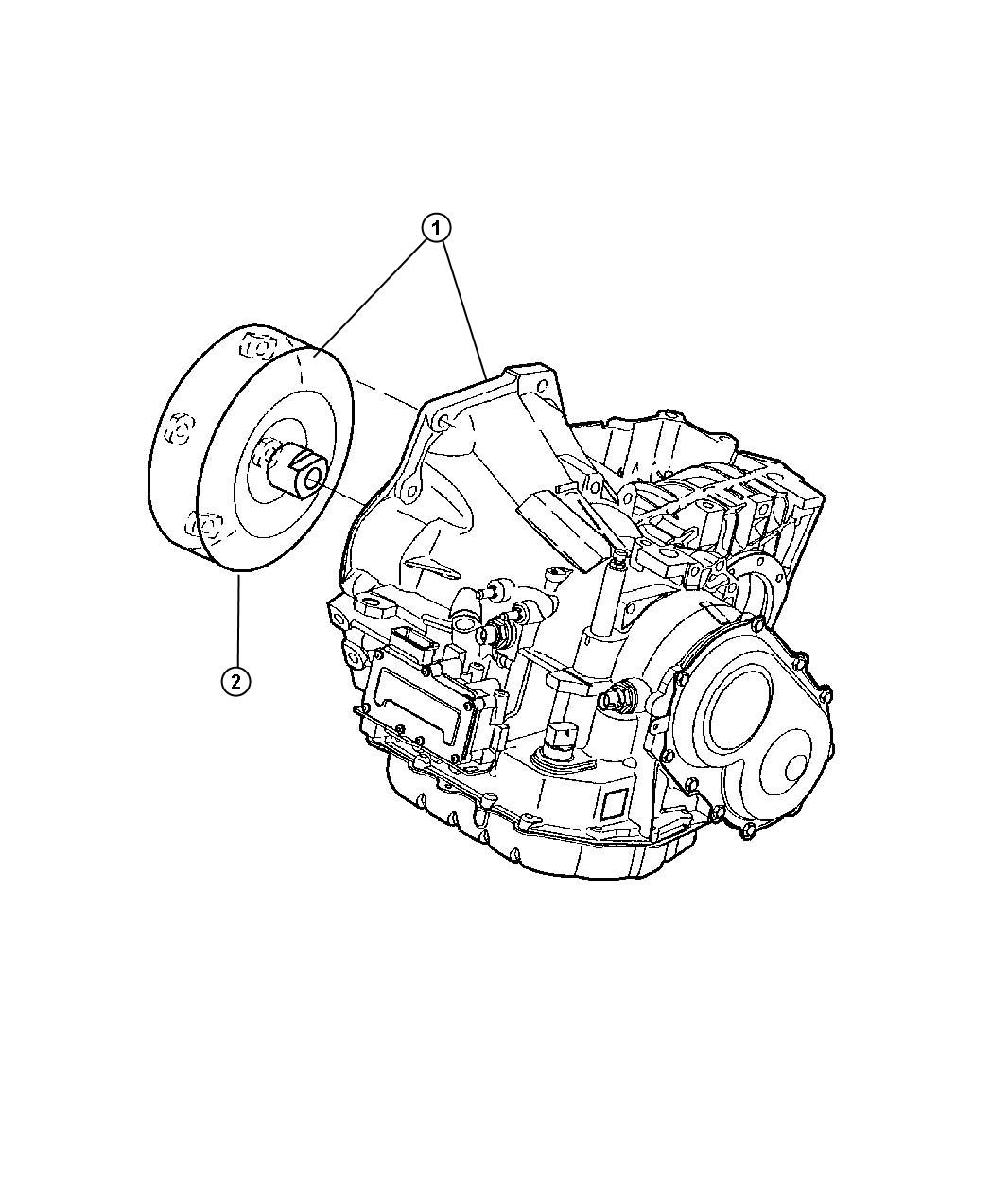 Chrysler Pacifica Transaxle Package Transmission