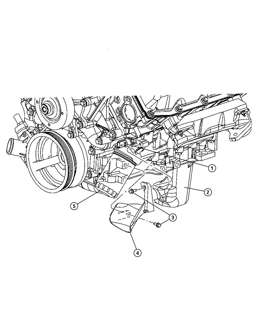 Dodge Ram Pan Engine Oil With Oil Drain Plug
