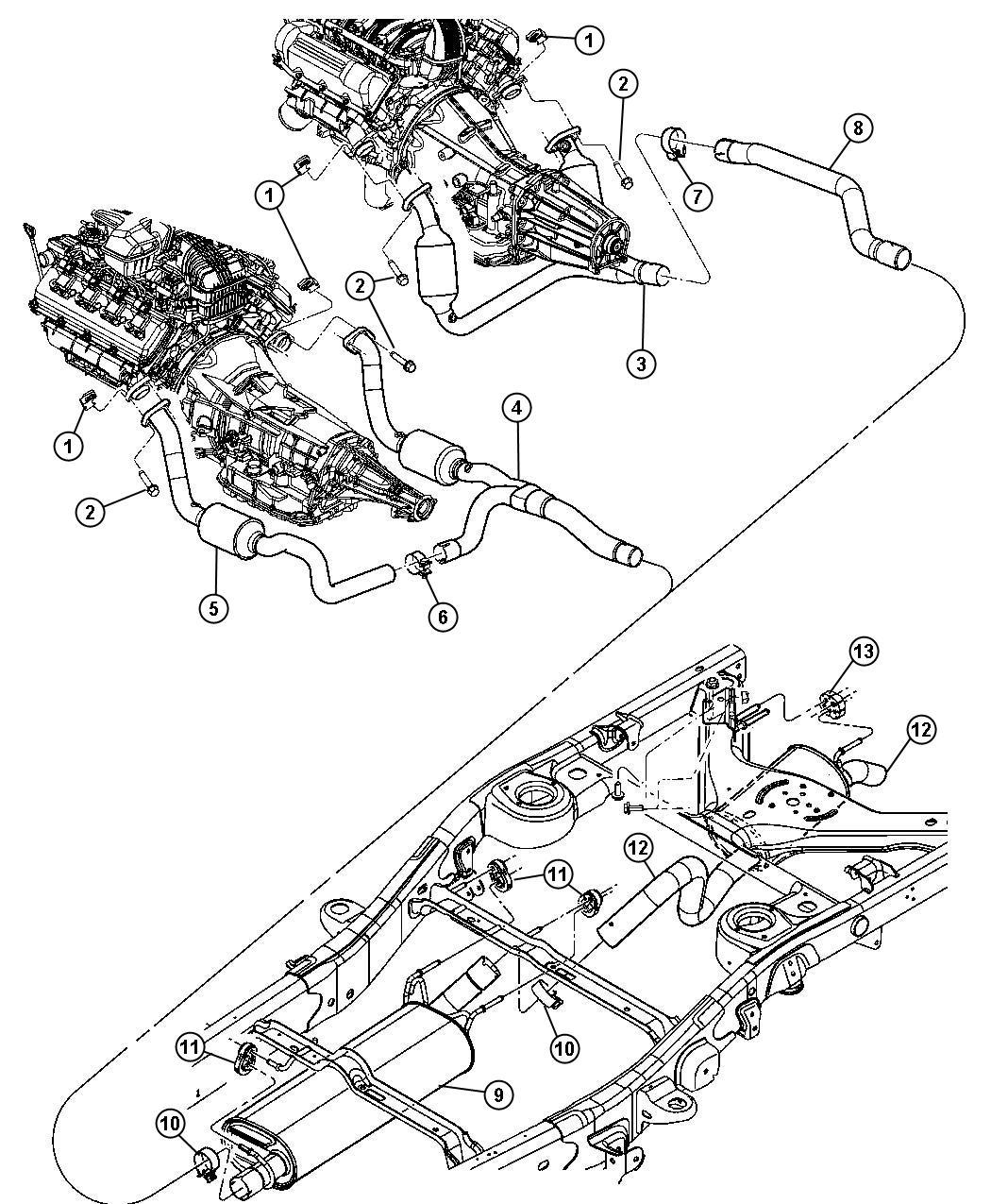Dodge Durango Converter Catalytic Left Exhaust