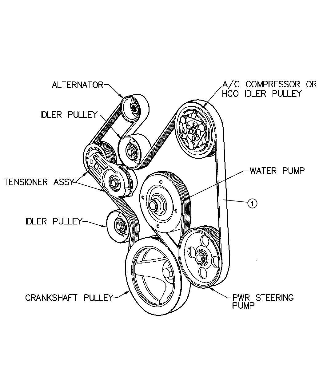 Dodge Dart Belt Accessory Drive Serpentine