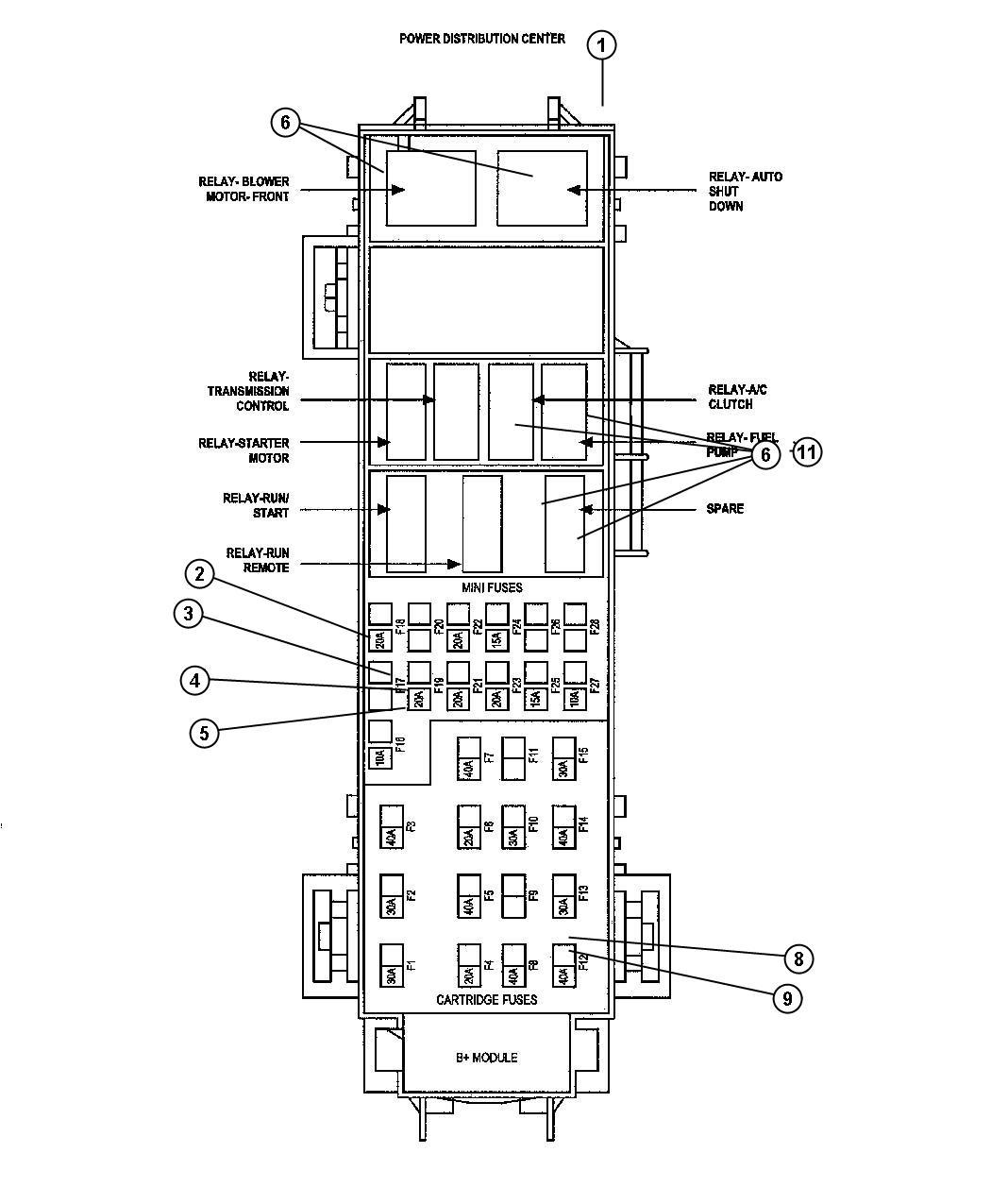 Chrysler Aspen Cover Power Distribution Center Ipm