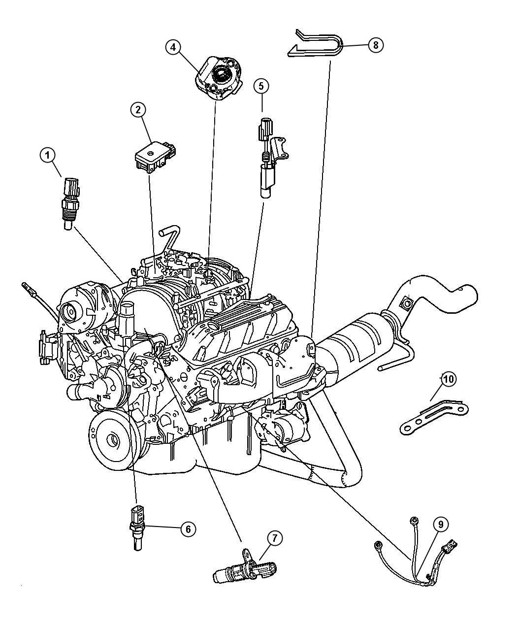 Chrysler Aspen Sensor Camshaft Camshaft Position