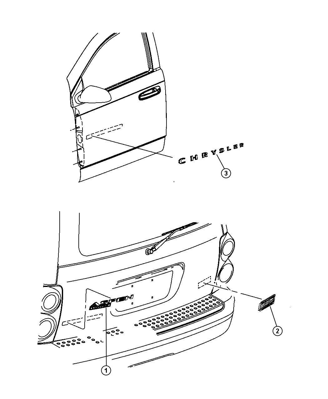 Chrysler Aspen Nameplate Nameplates