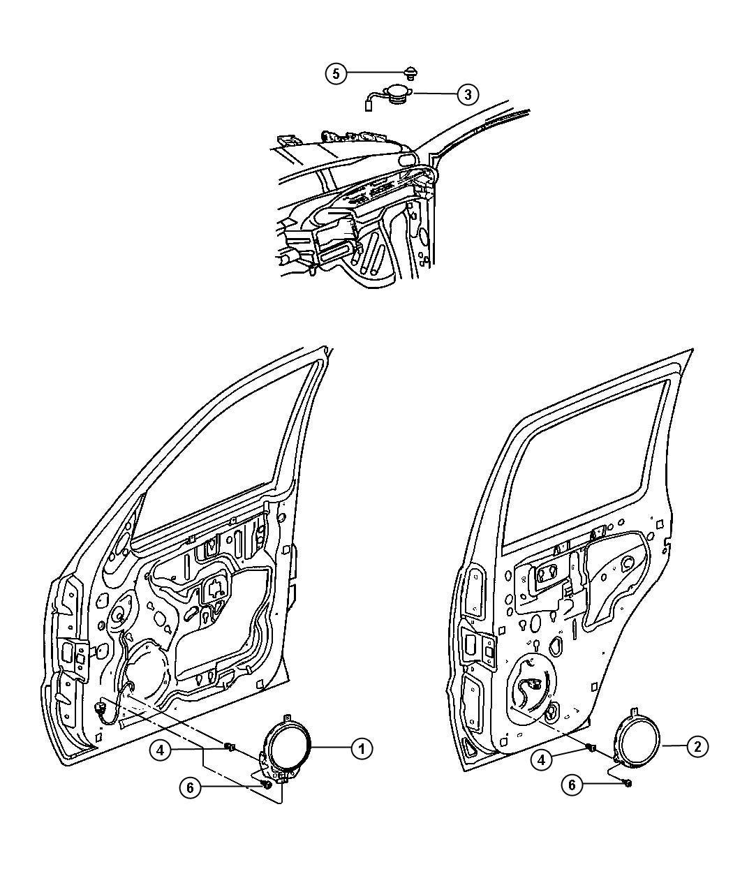 Jeep Liberty Speaker Tweeter Instrument Panel