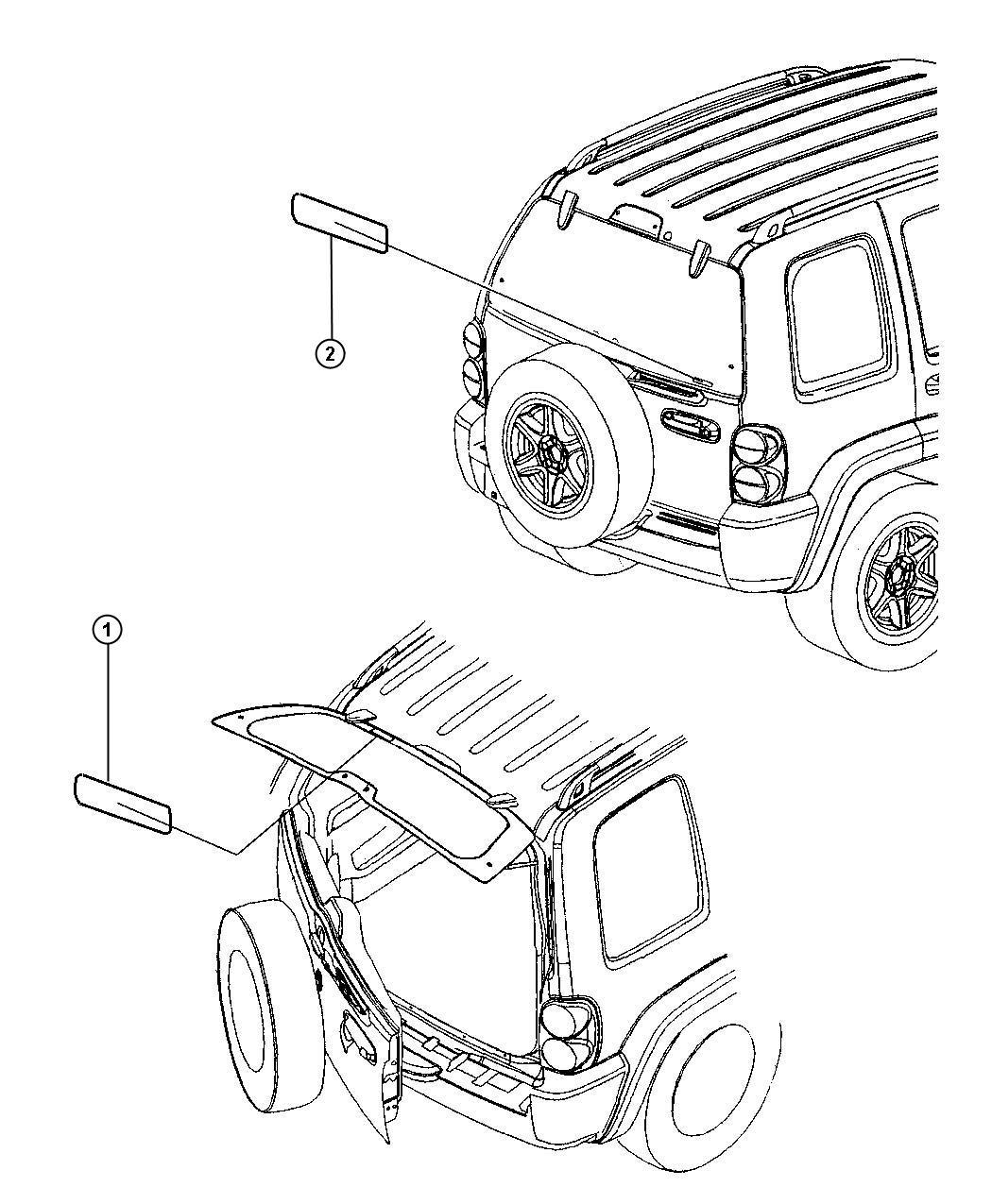 Jeep Liberty Label Brake Fluid Warning Master