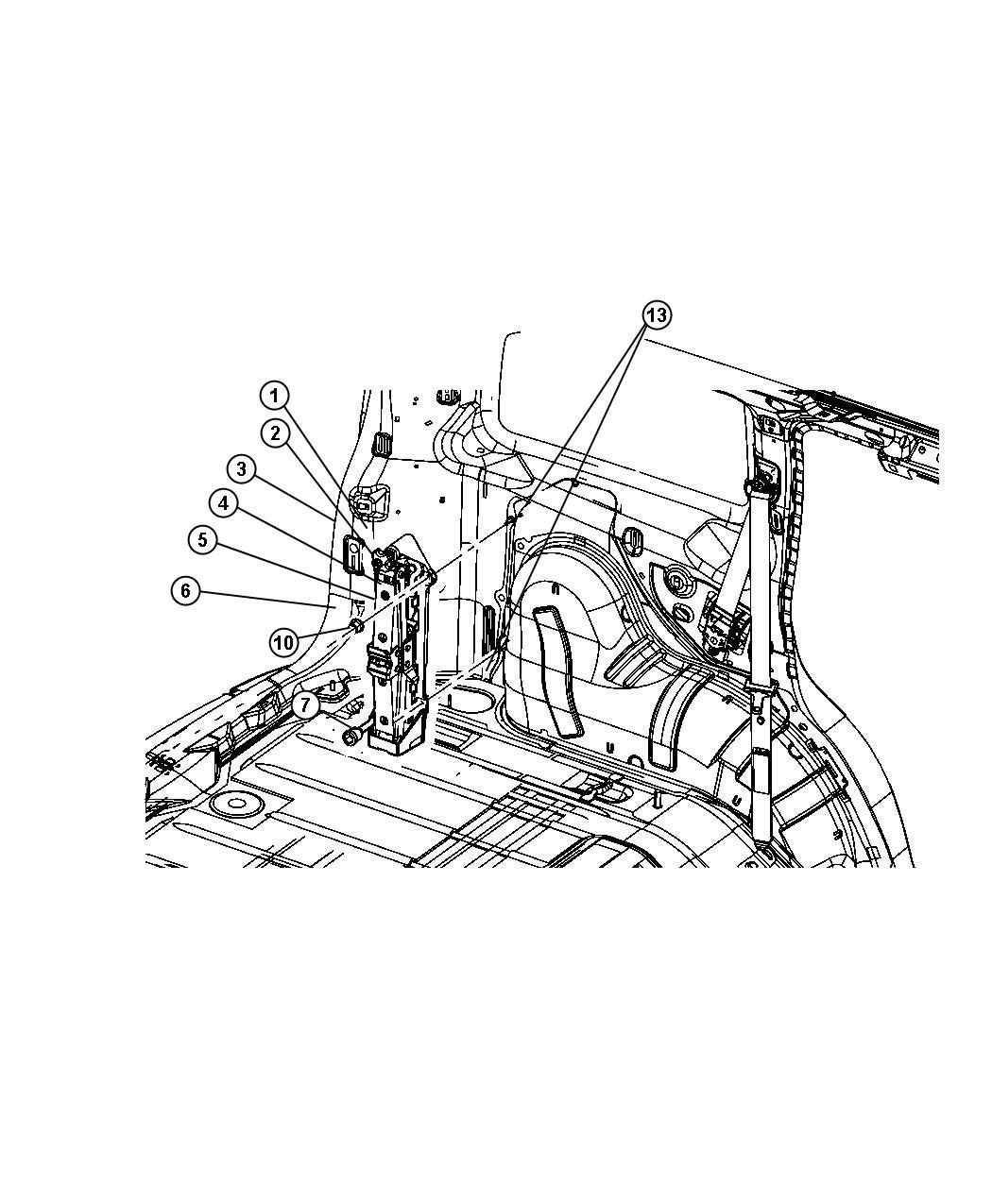 Dodge Avenger Wrench Wheel Lug Nut After 06 30 05 Jack