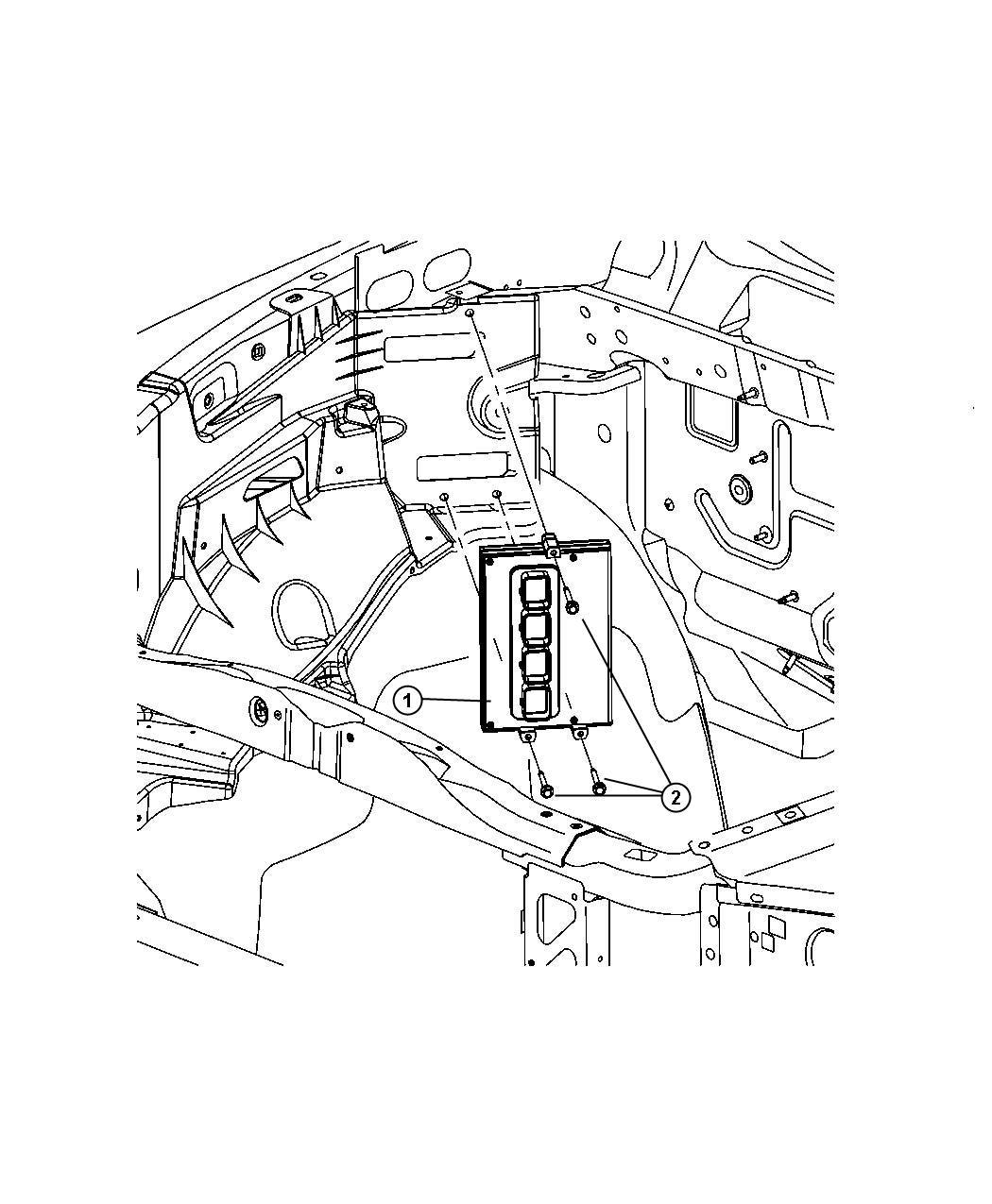 Chrysler Aspen Module Powertrain Control Generic