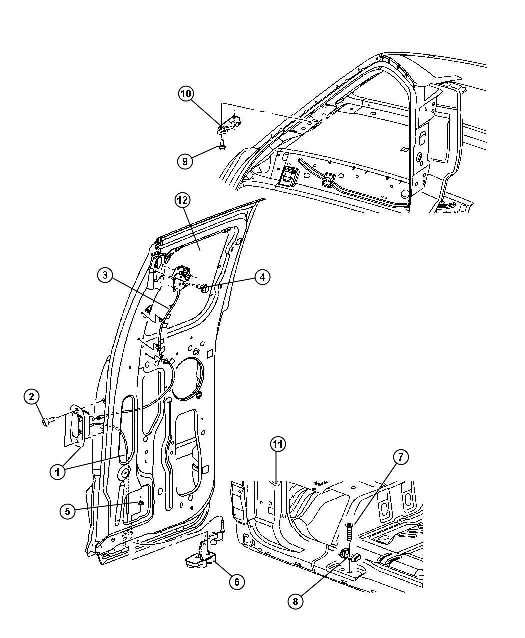 Dodge Dakota Handle Cargo Door Shutface Right Rear Cab