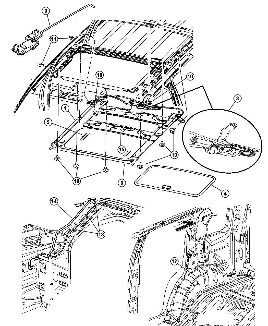 Chrysler Sebring Sunroof Trim All Trim Codes