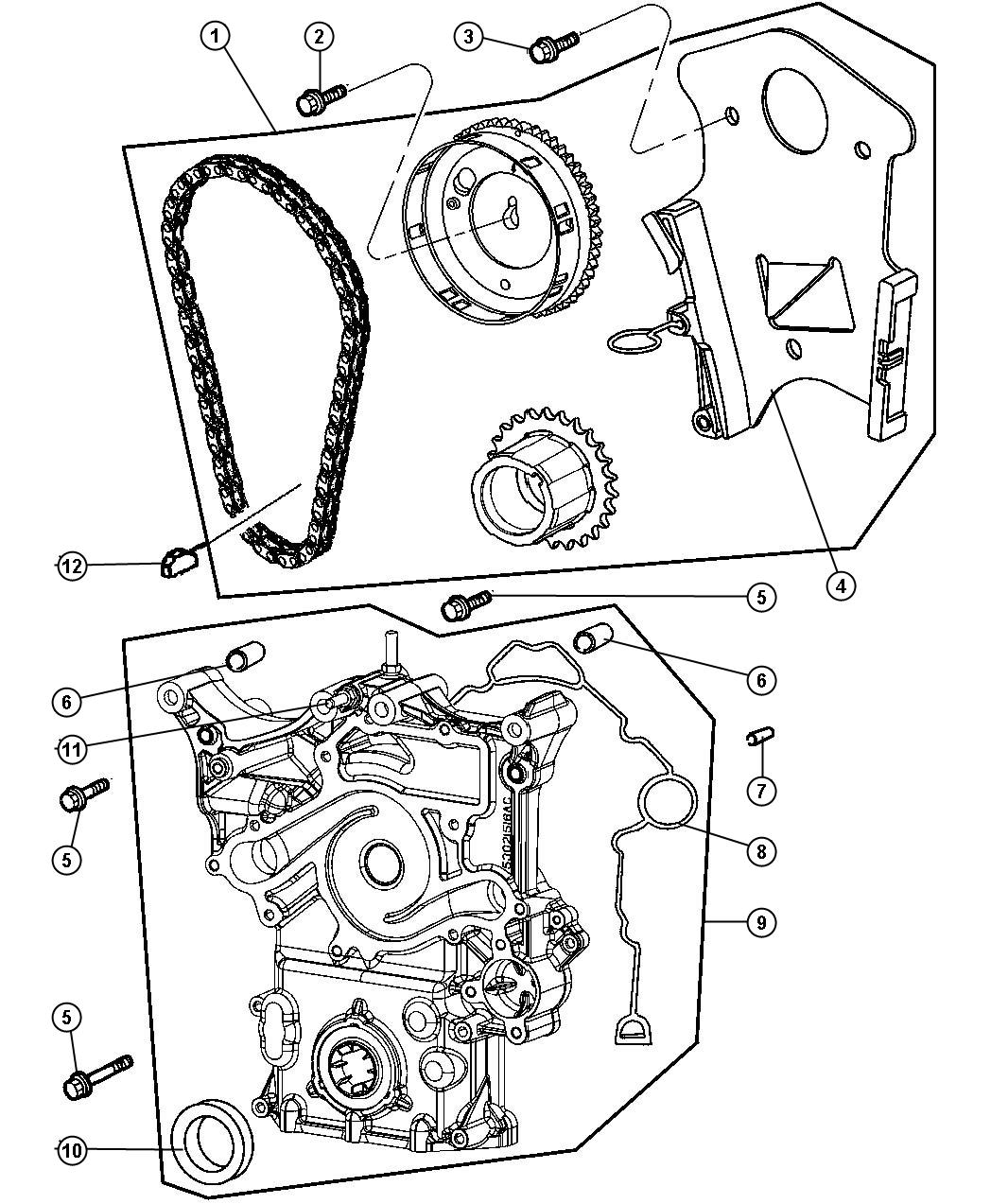 Dodge Magnum Tensioner Chain Timing Esf Cover