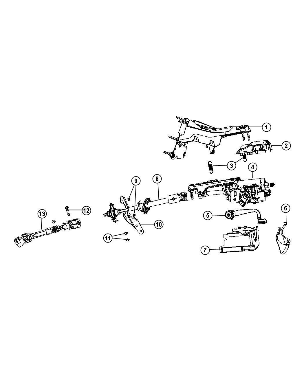 Dodge Avenger Bracket Intermediate Shaft Steering Column