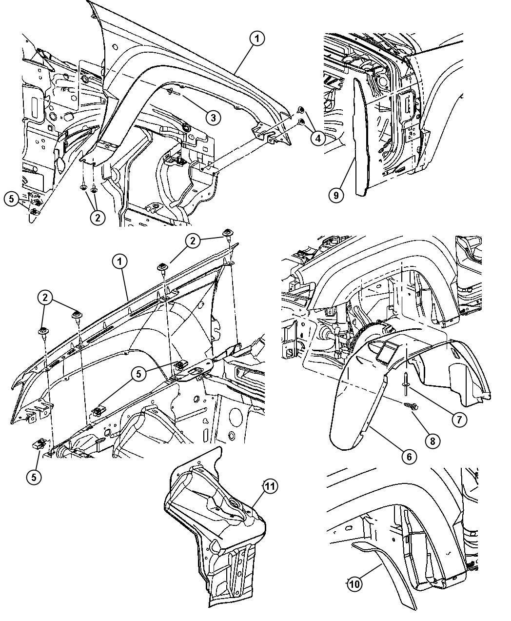 Jeep Grand Cherokee Silencer Wheelhouse Front