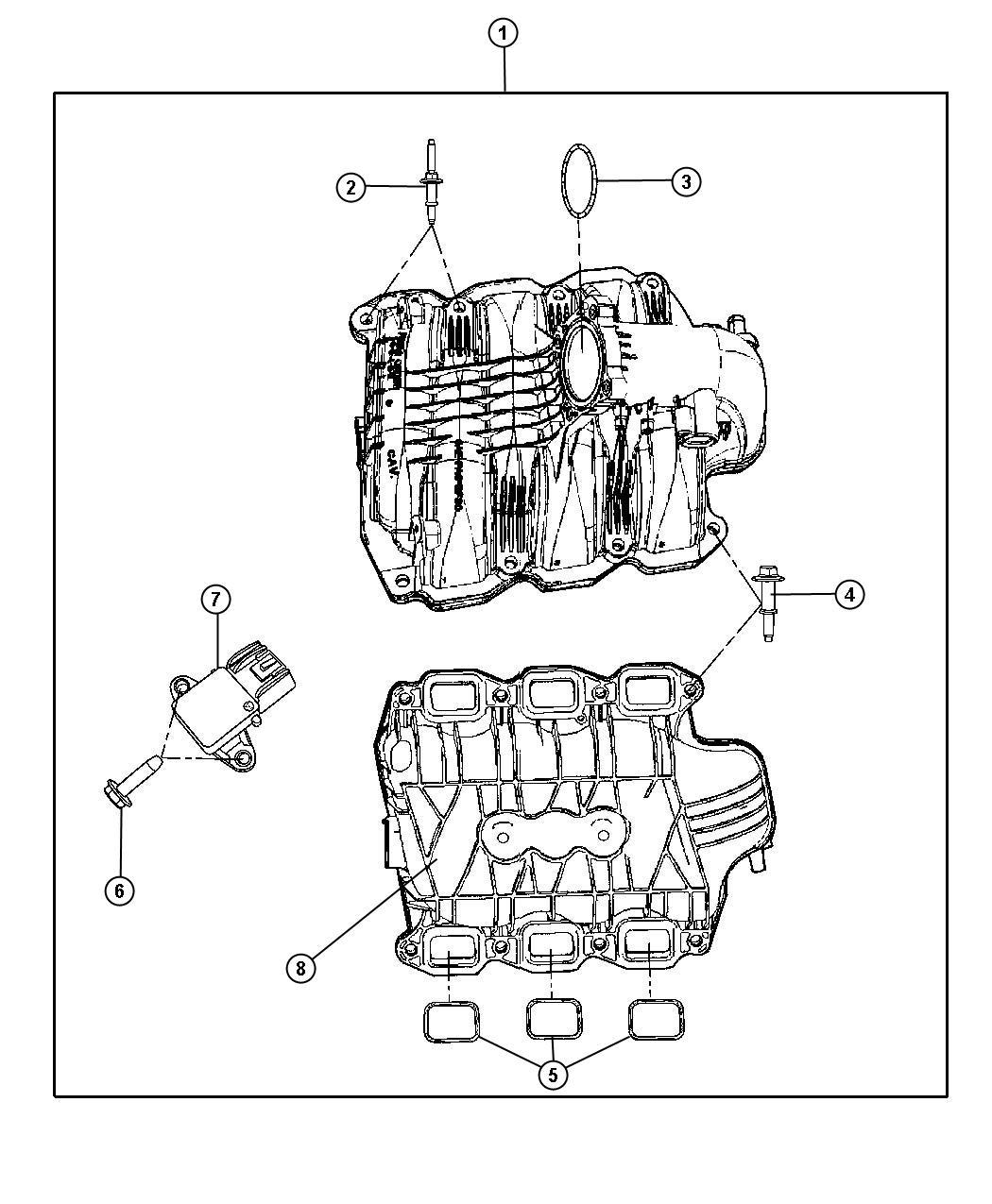 Dodge Durango Manifold Intake Ekg