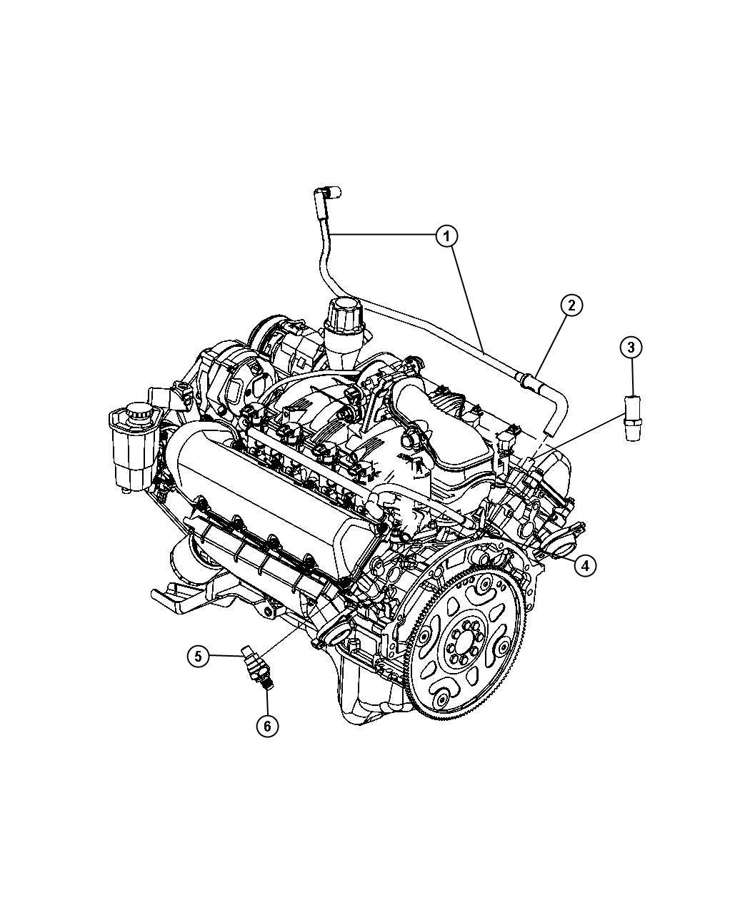 Chrysler Aspen Used For Pcv Valve And Housing Valve Crankcase Vent Adapter Assembly