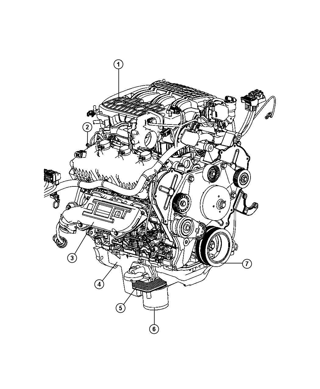 Dodge Nitro Shield Right Exhaust Manifold Engine
