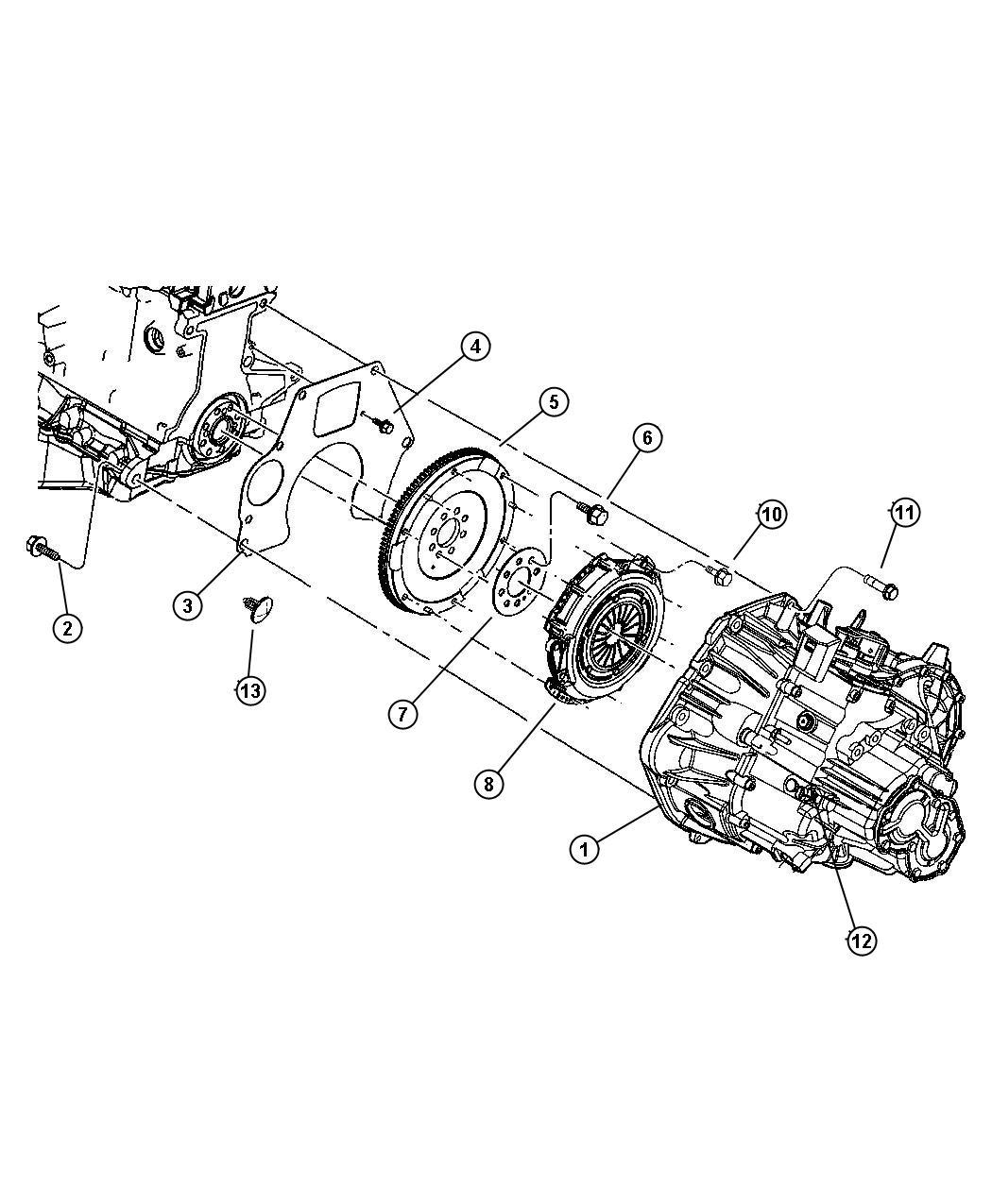 Chrysler Pt Cruiser Clutch Kit Manual Transmission