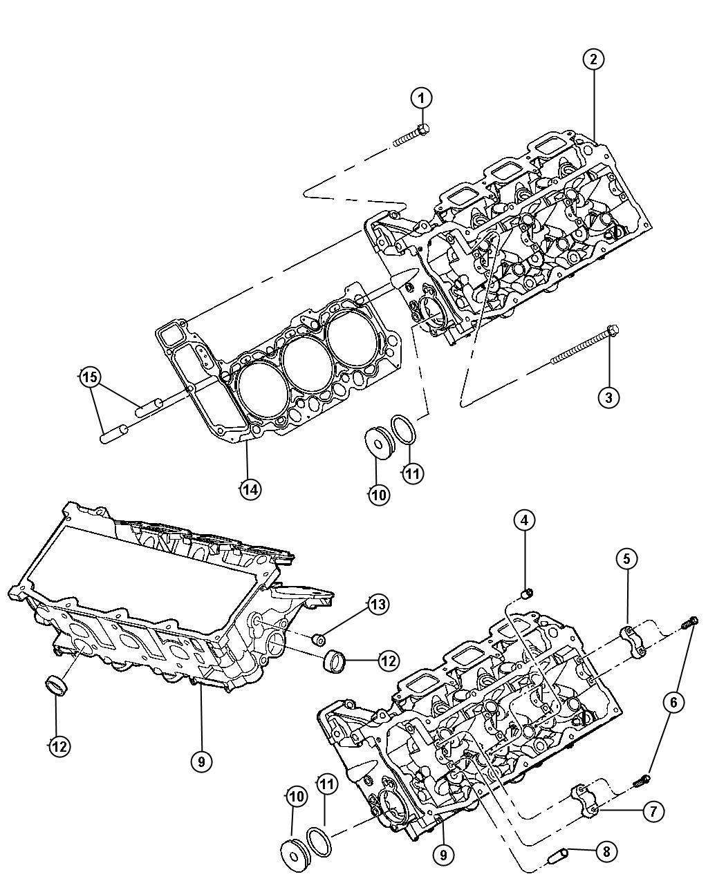 Dodge Dakota Head Cylinder Right Partial Machined Bare