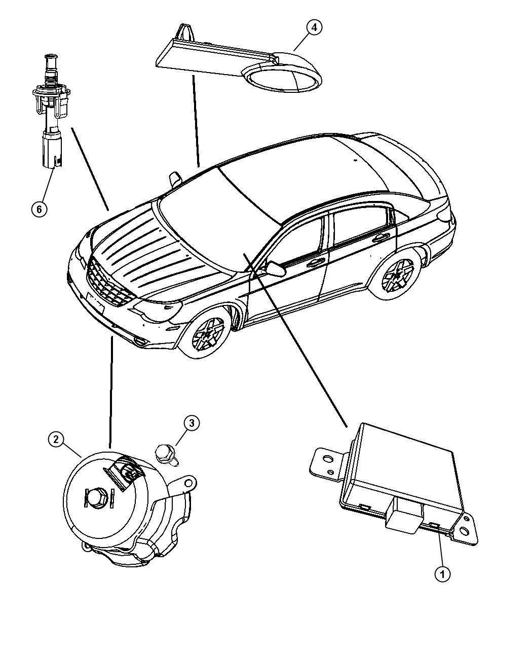 Dodge Avenger Module Alarm Security Alarm After 11 07