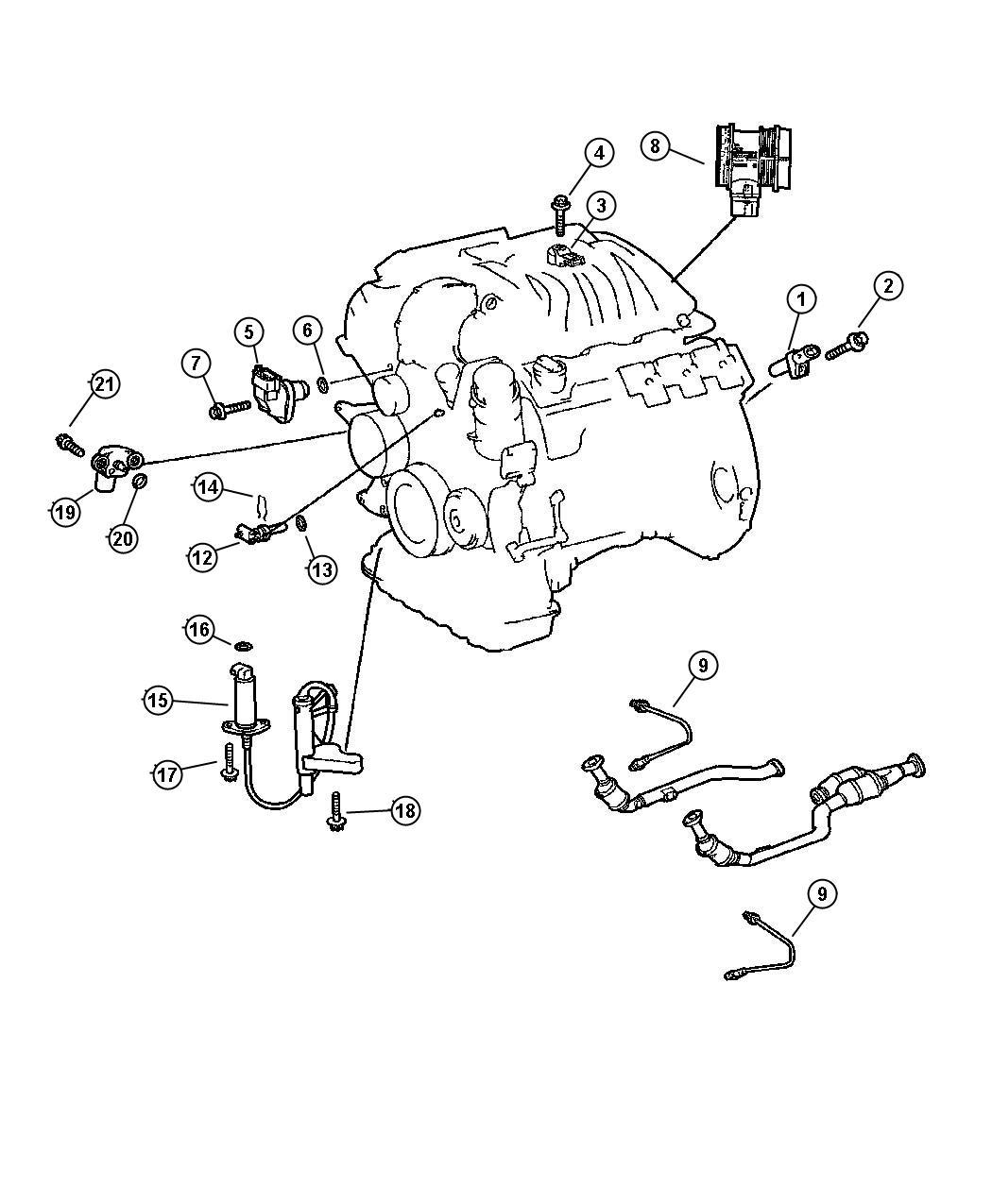 Chrysler Crossfire Sensor Mass Airflow Sensors