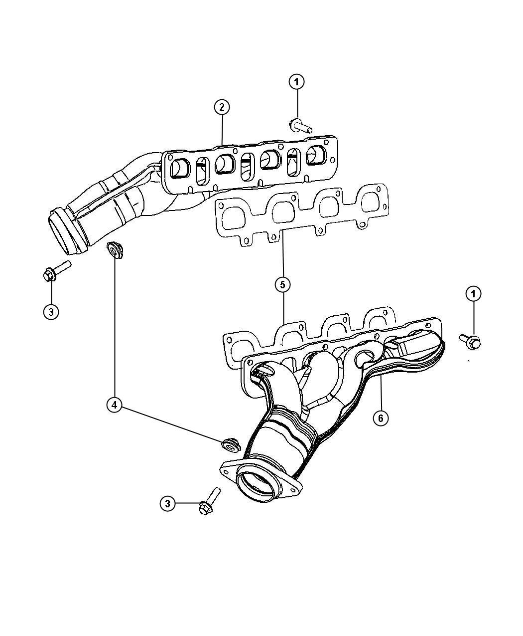 Dodge Grand Caravan Manifold Exhaust Right Right