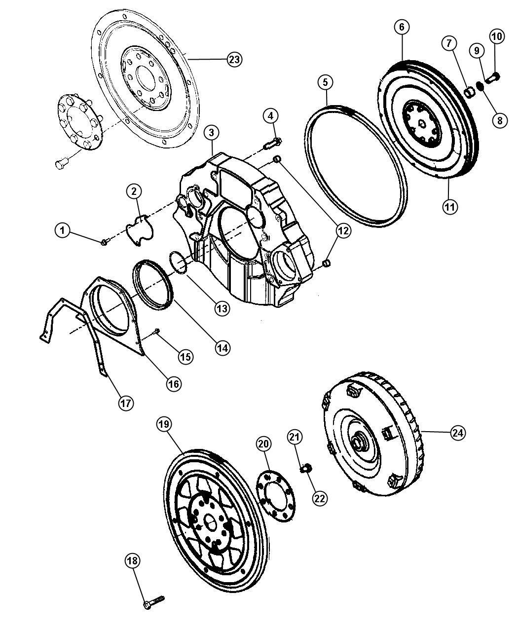 Dodge Ram Bolt Screw Hex Head M10x1 5x25 00