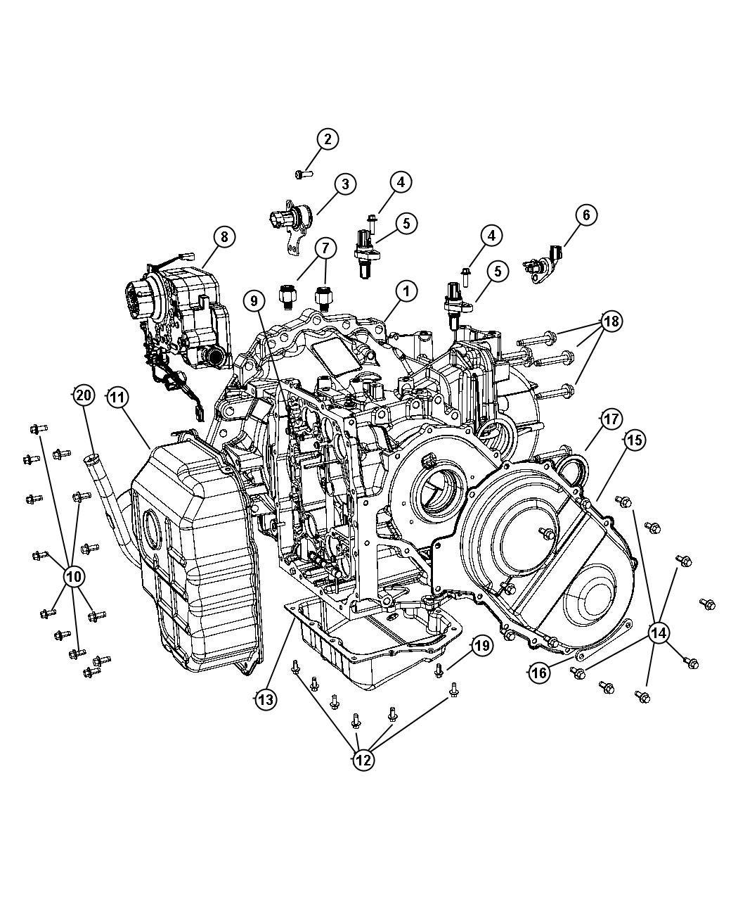 Chrysler Pacifica Solenoid Module Transmission
