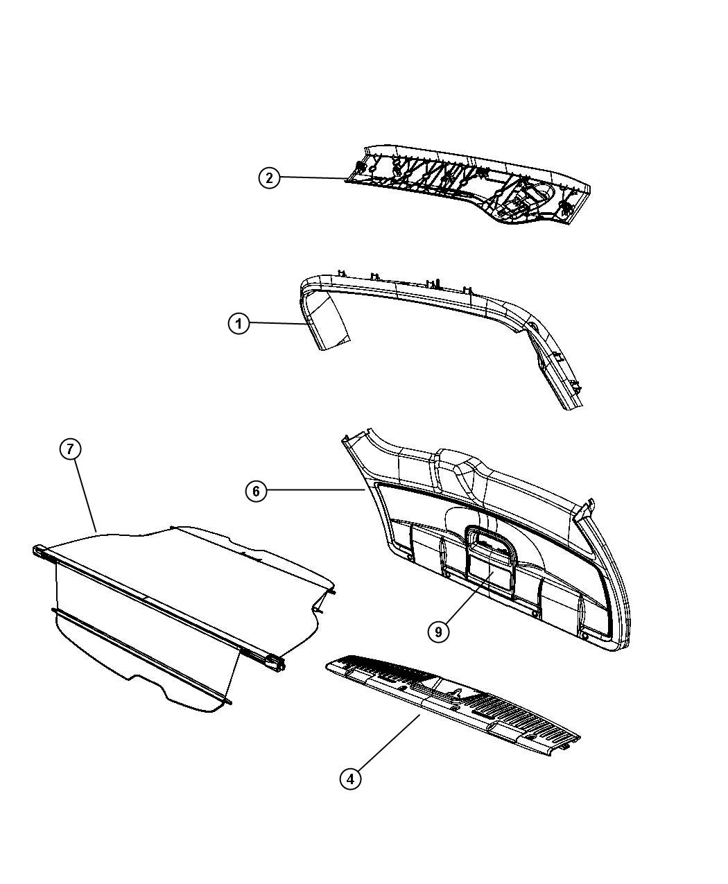 Chrysler Town Amp Country Cover Liftgate Trim T1 Trim