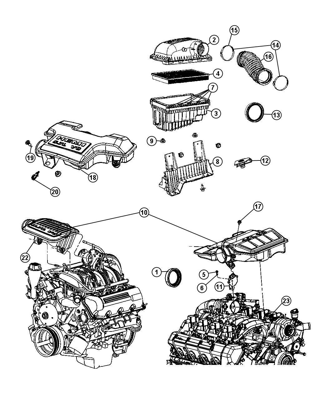 Dodge Ram Resonator Throttle Body Upper