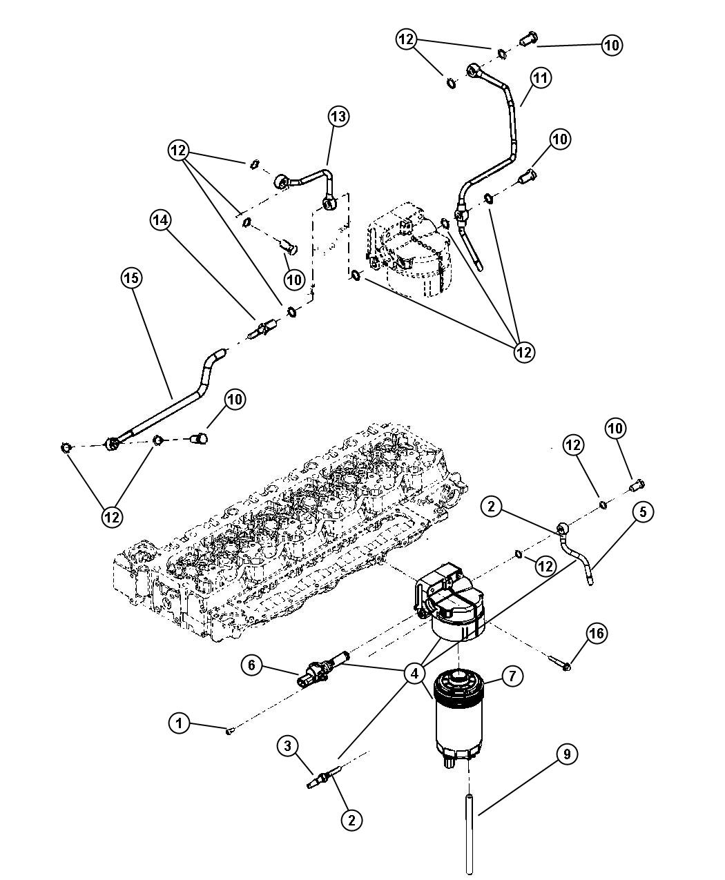 Dodge Ram Fuel Line Kit Fuel Filter Emissions
