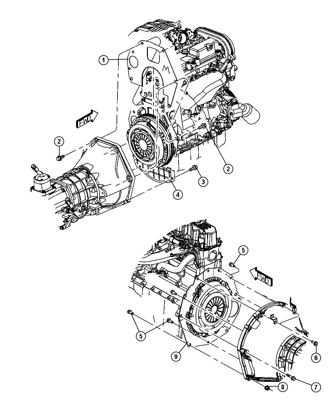 Jeep Wrangler Spacer Clutch Housing