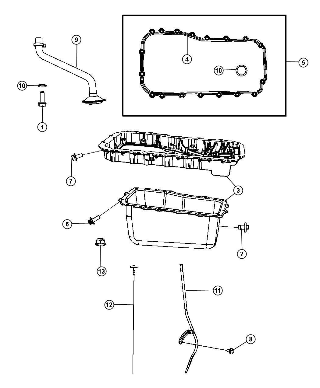 Dodge Grand Caravan Pickup Engine Oil Oil Pickup W