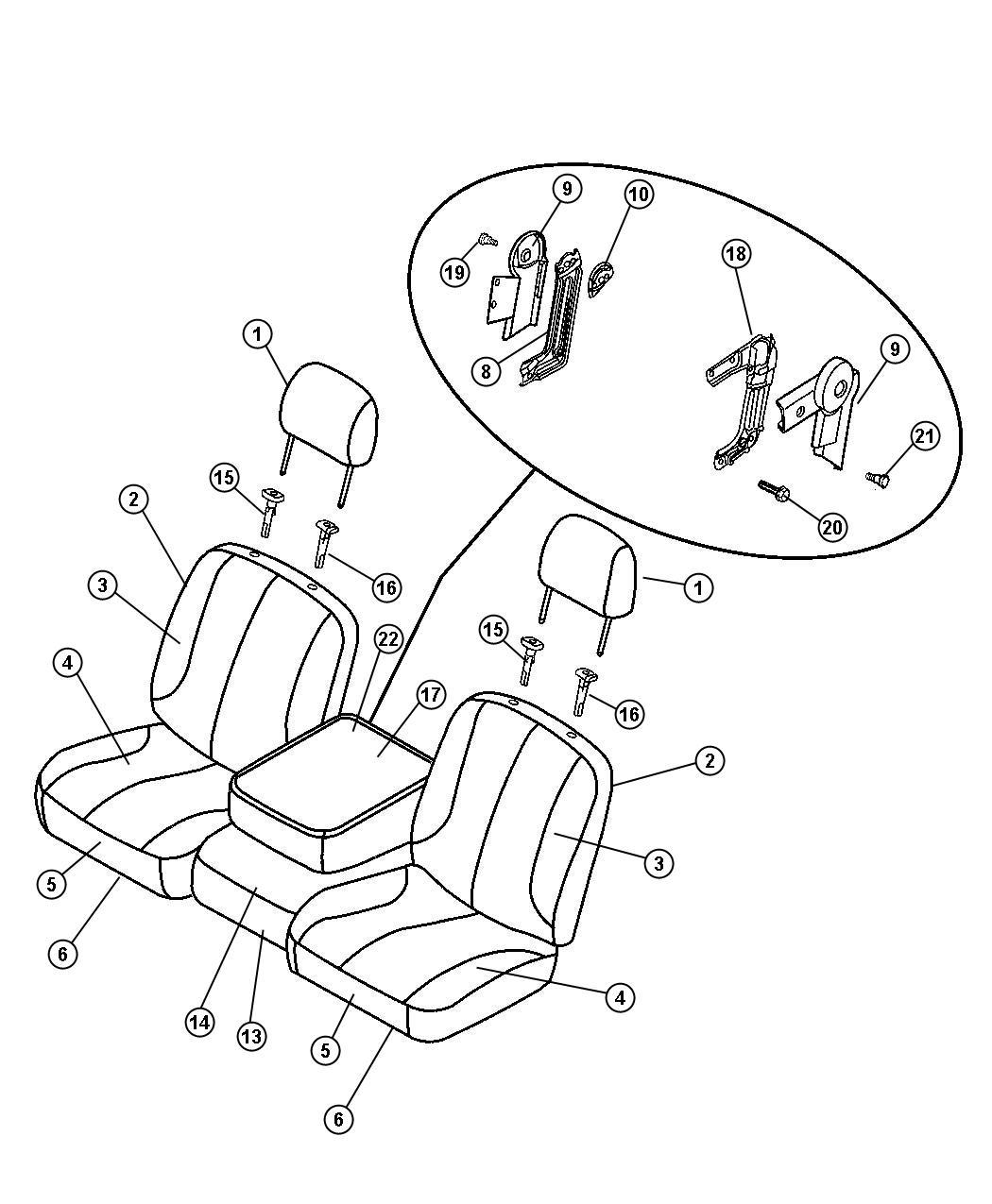 Dodge Ram Cover Front Seat Cushion Left D5 Trim