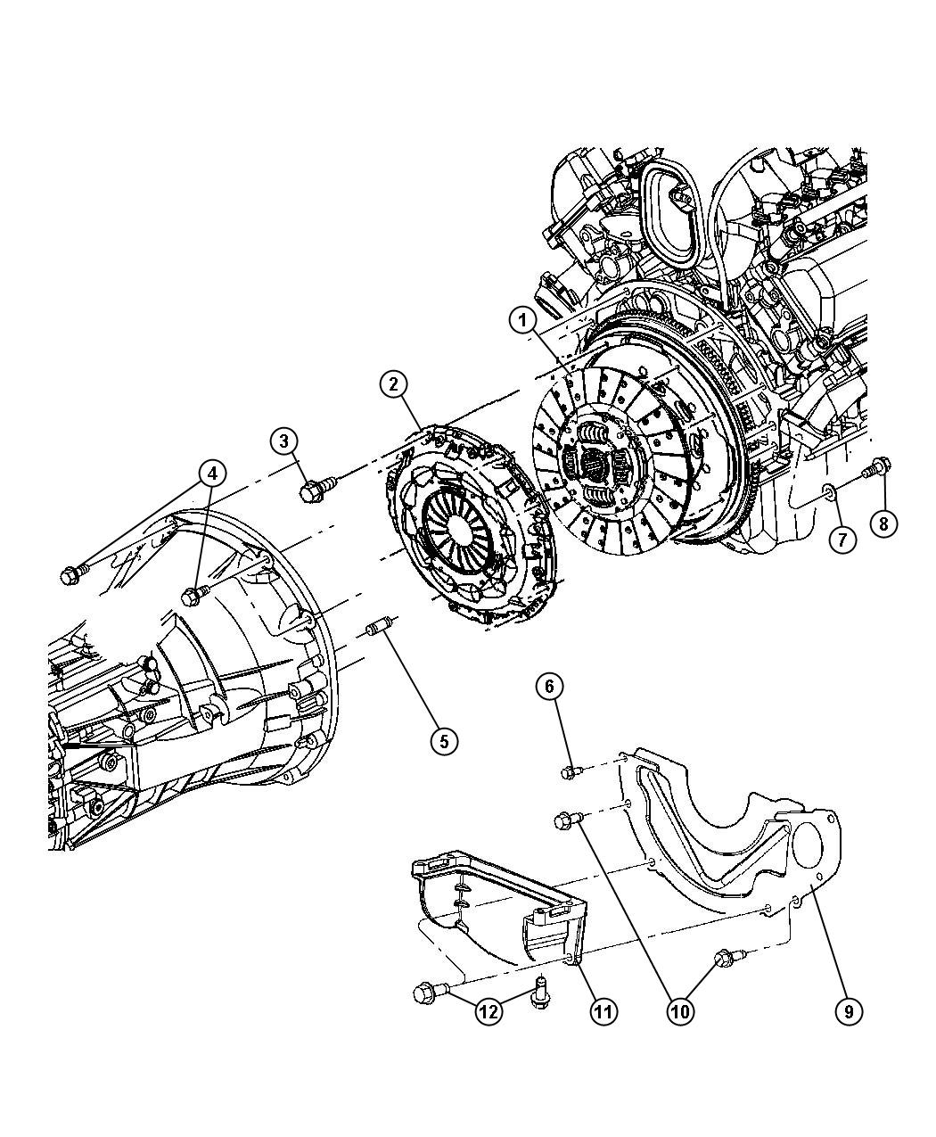 Dodge Ram Clutch Kit Disc Used For Pressure Plate