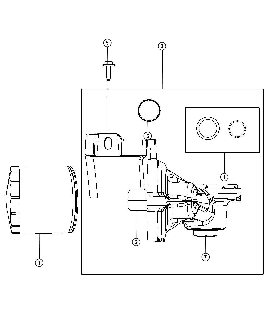 Dodge Grand Caravan Filter Engine Oil