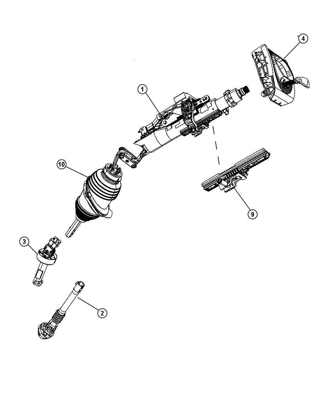 Dodge Magnum Tilt Lock Package Manual Steering