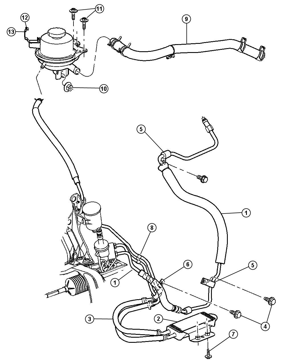 Dodge Ram Cooler Power Steering Rack Pinion
