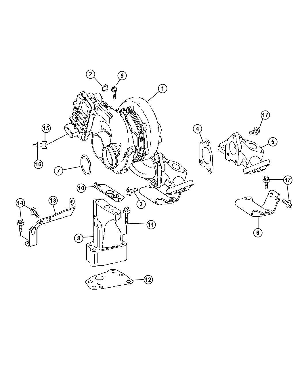 Dodge Sprinter Gasket Turbocharger Lower