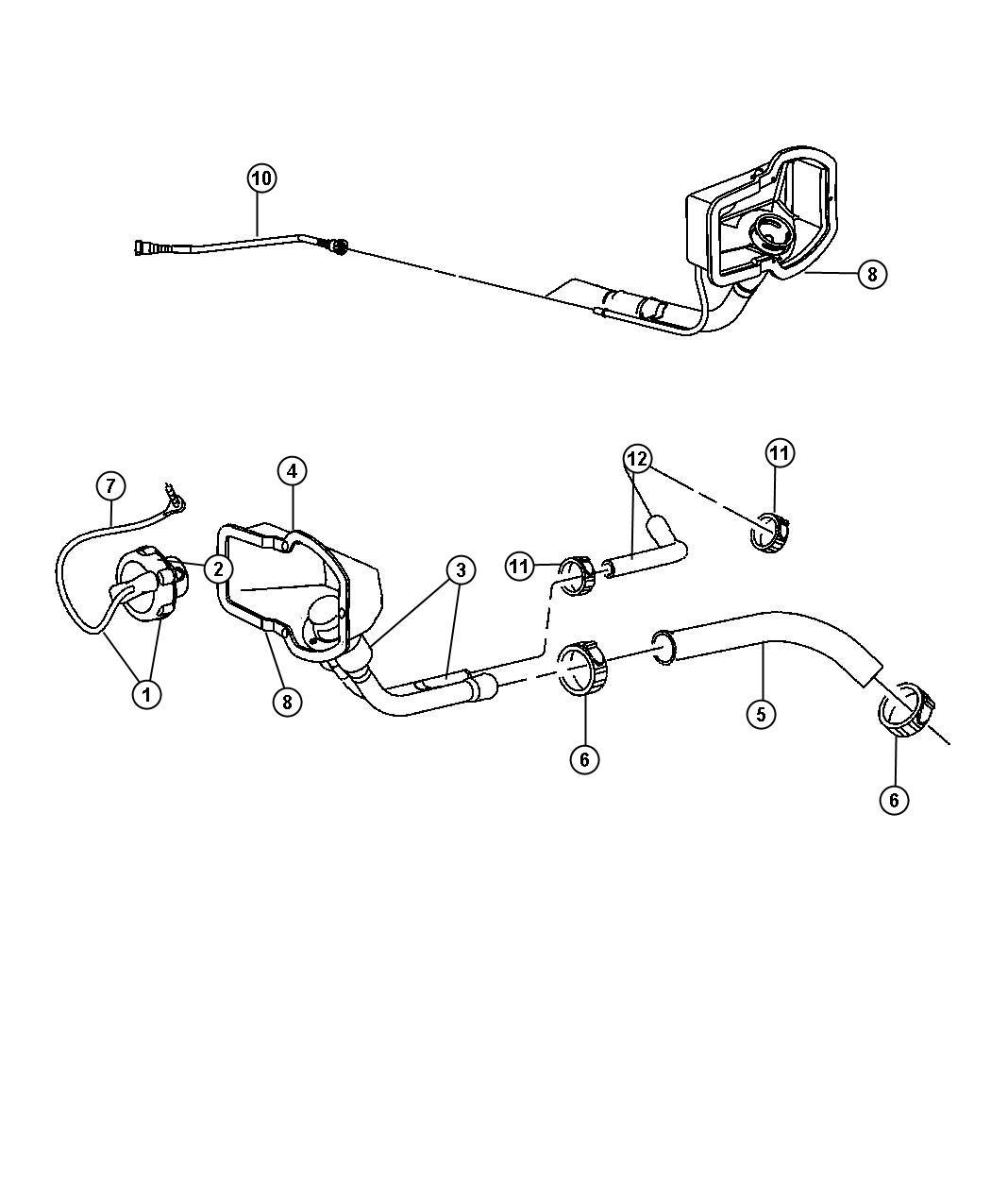 Dodge Ram Tube Fuel Vapor Recirculation 34
