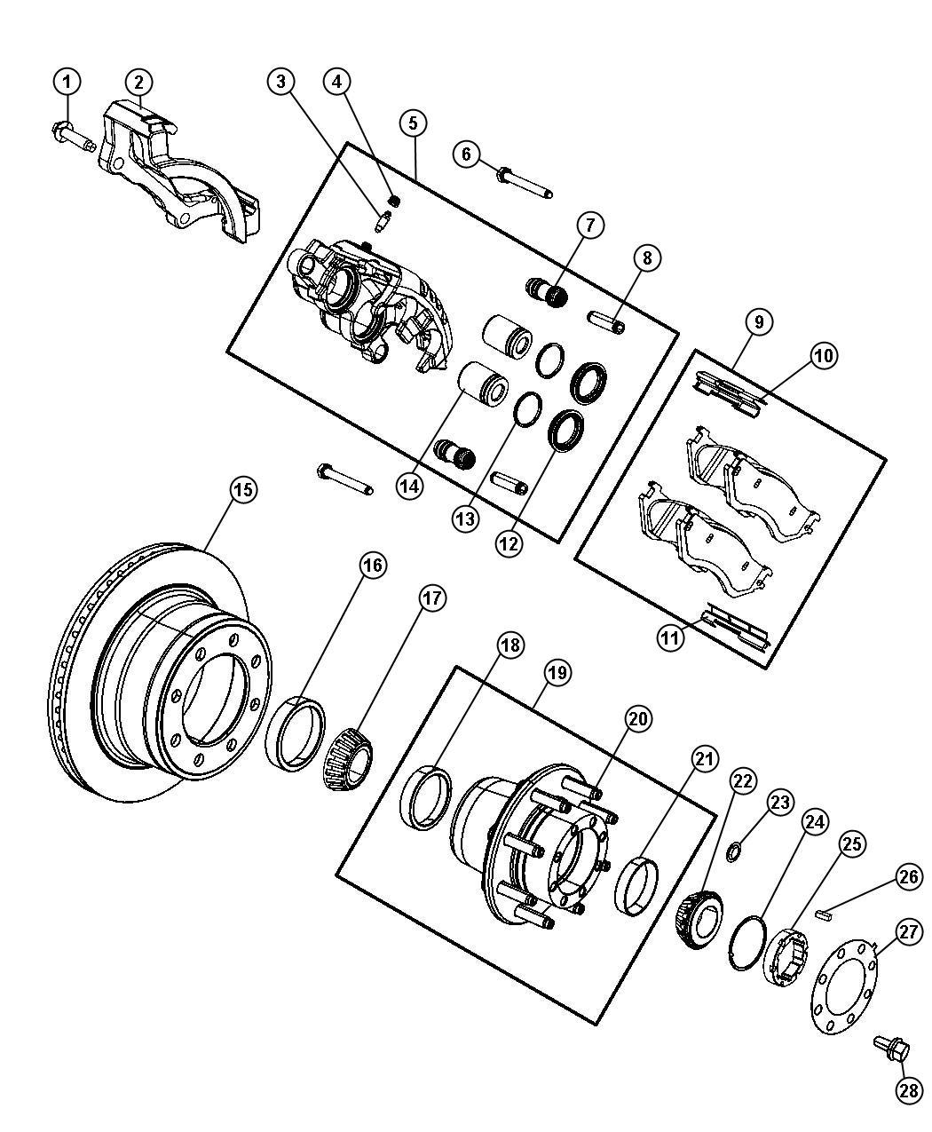 Dodge Ram Hub Hub Assembly Wheel Rear Right Or