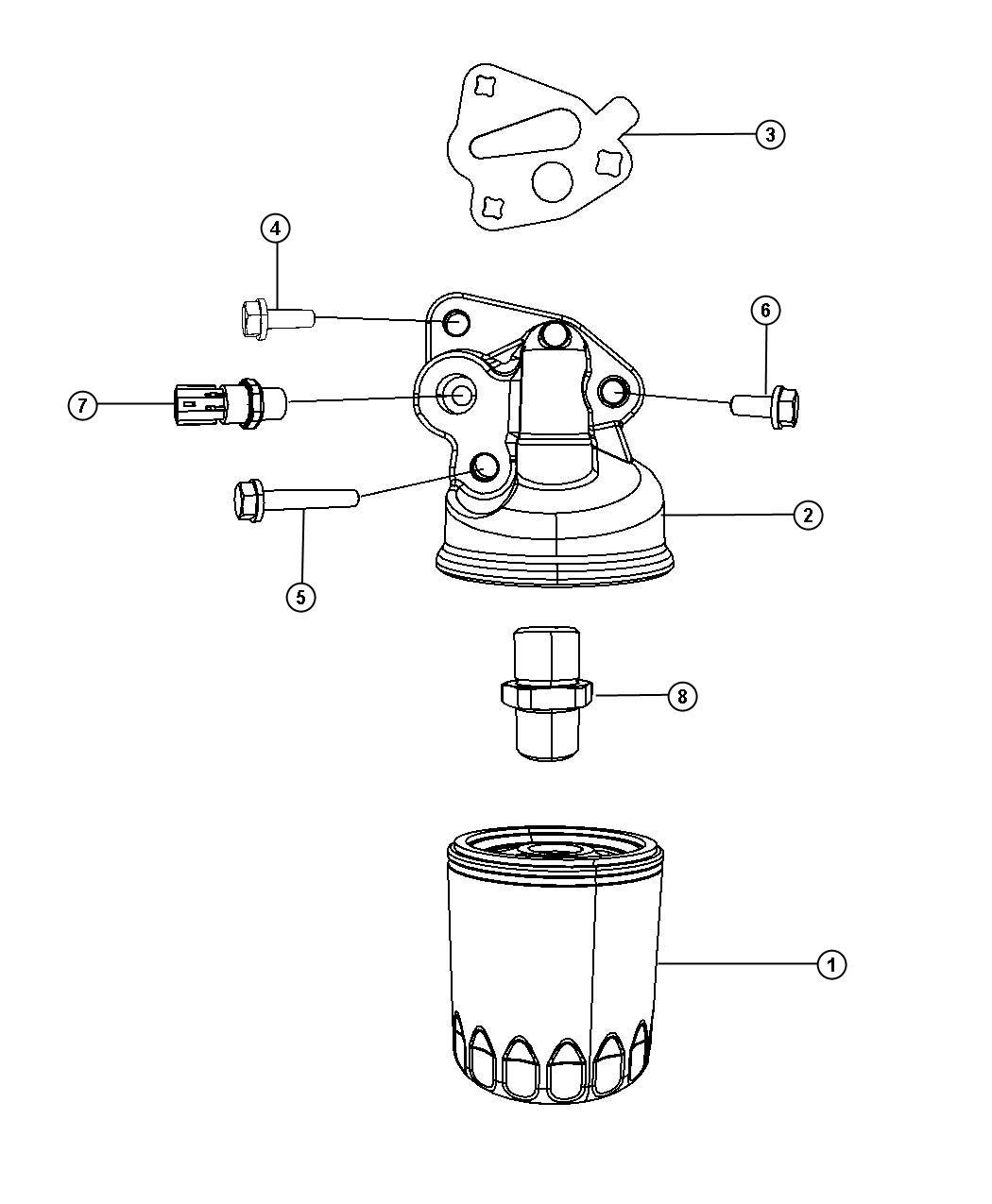 Chrysler Pacifica Gasket Oil Filter Adapter 50